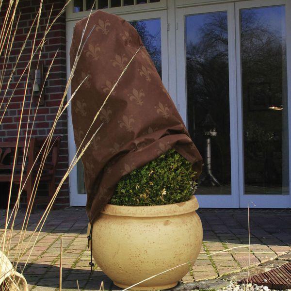 Vlieshaube Winterschutz Lilie braun-braun