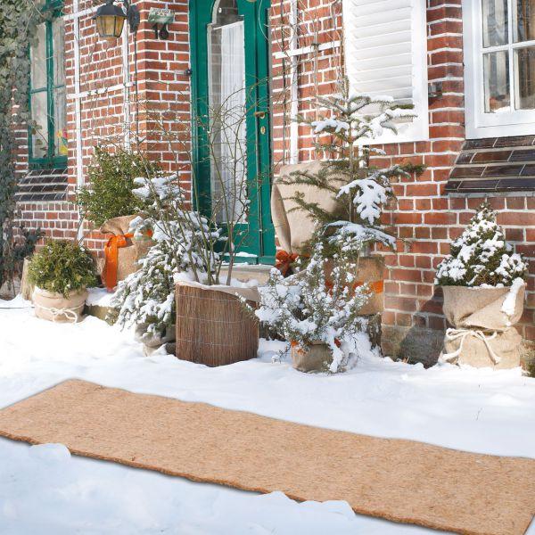 Kokosmatte Winterschutz Antirutschmatte natur