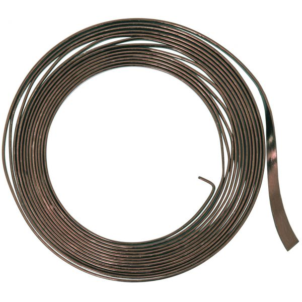 Flachdraht 5mm aus Aluminium, braun