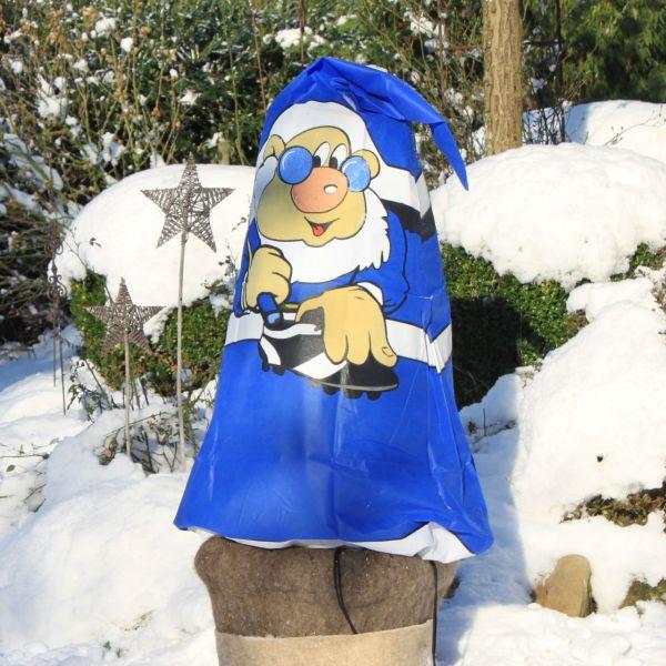 Vlieshaube Winterschutz Fan blau-weiss