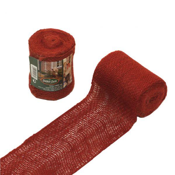 Juteband Wickelband Stammschutz rot