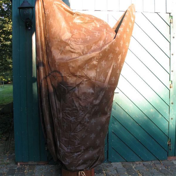 Vlieshaube groß XL Winterschutz Lilie braun