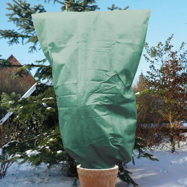 Vlieshaube gross XL Winterschutz grün