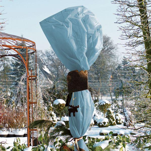 Winterschutz-Vliesgewebe eisblau
