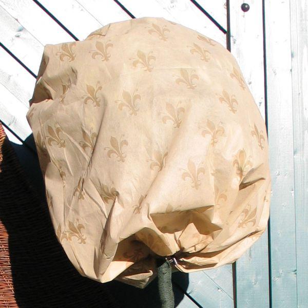 Vlieshaube Winterschutz Lilie beige-braun