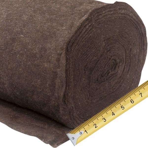 Winterschutz Schafwollmatte dunkelbraun, Meterware 0,5m breit