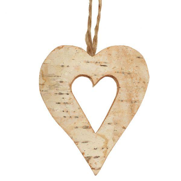 Birkenholz-Anhänger Herz