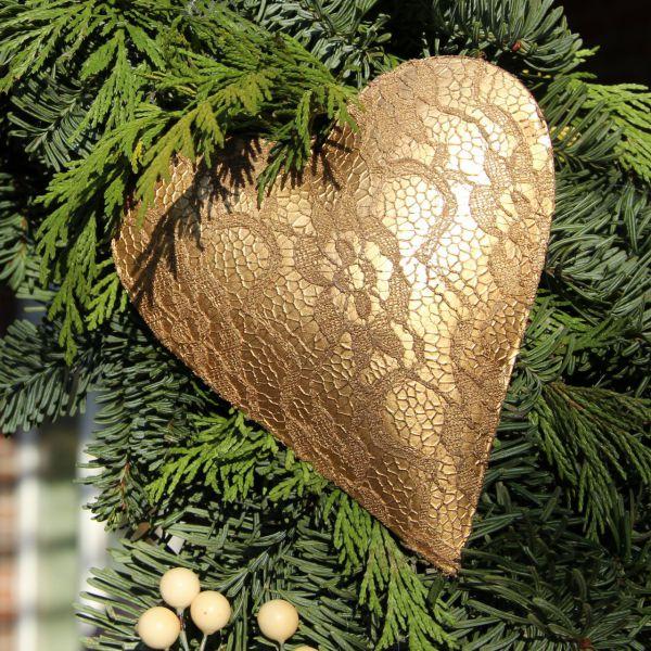 Deko-Anhänger Herz Diva, gold