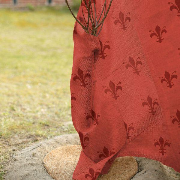 Jute-Gewebe Winterschutz-Gewebe Lilie-rot