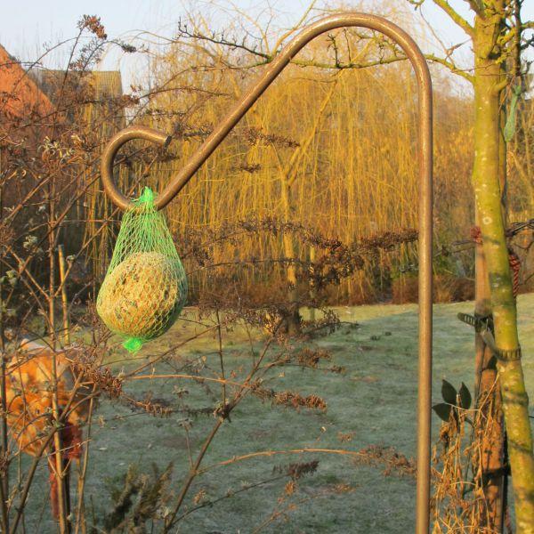 Pflanz-und Zierstab mit Haken Roheisen unbehandelt