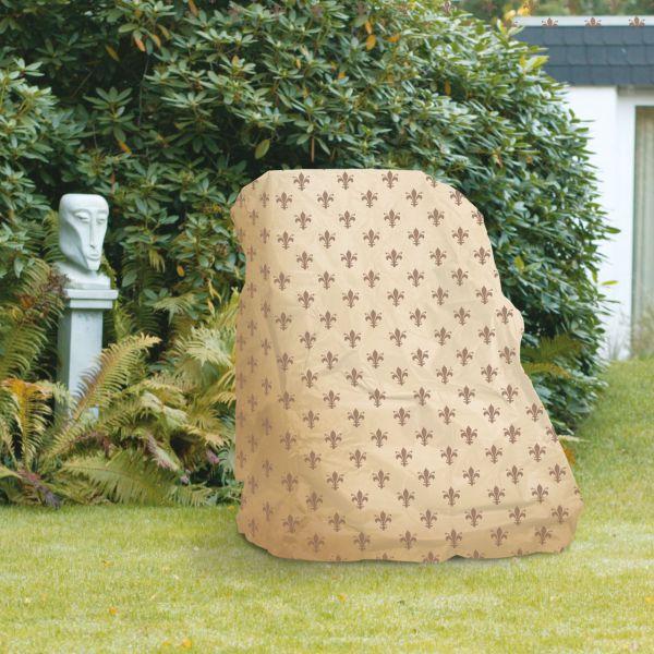 Gartenmöbel-Abdeckung Hochlehner Sessel Lilien-Design beige