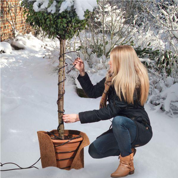 Frostschutz-Heizkabel für Pflanzen 4m grün-schwarz