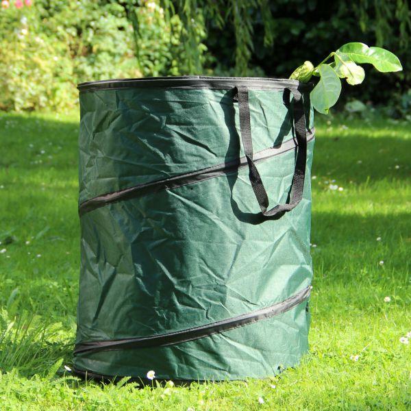 PopUp Gartenabfall-Tasche, stabile Auführung, grün