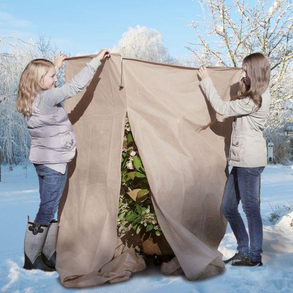 XL Wintervlies-Thermomantel 250 x Ø 120, 140g EXTREME, beige