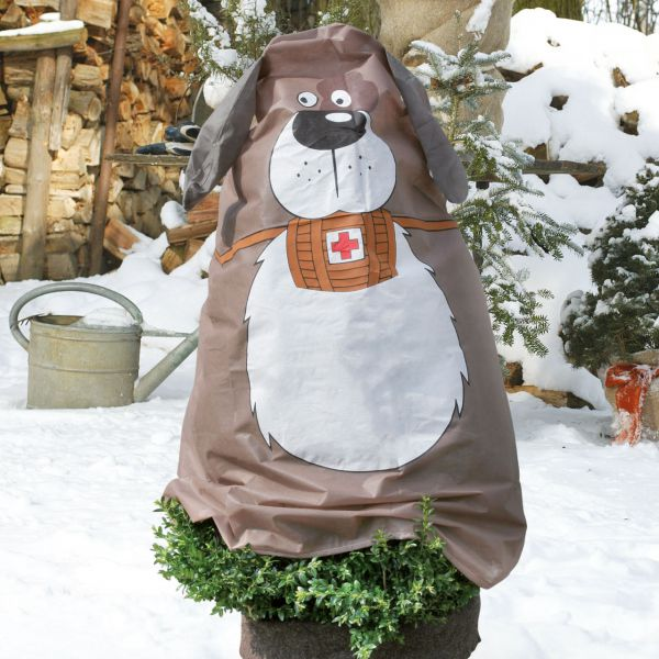 Vlieshaube Winterschutz Hund Paddy braun-weiss