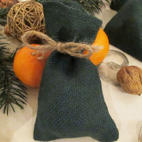 Geschenk-Jutesäckchen, grün