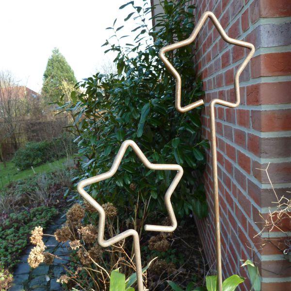 Pflanz- und Zierstab Stern, Roheisen