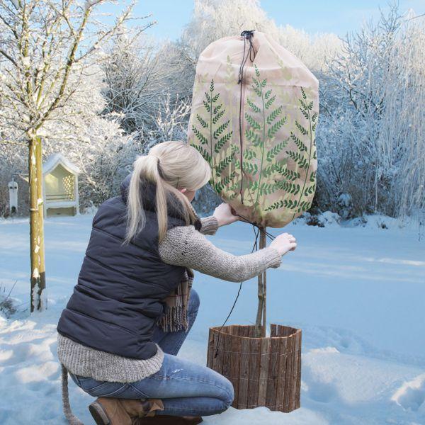 Wintervlies-Thermomantel M, H: 150cm x Ø 70 cm Farn