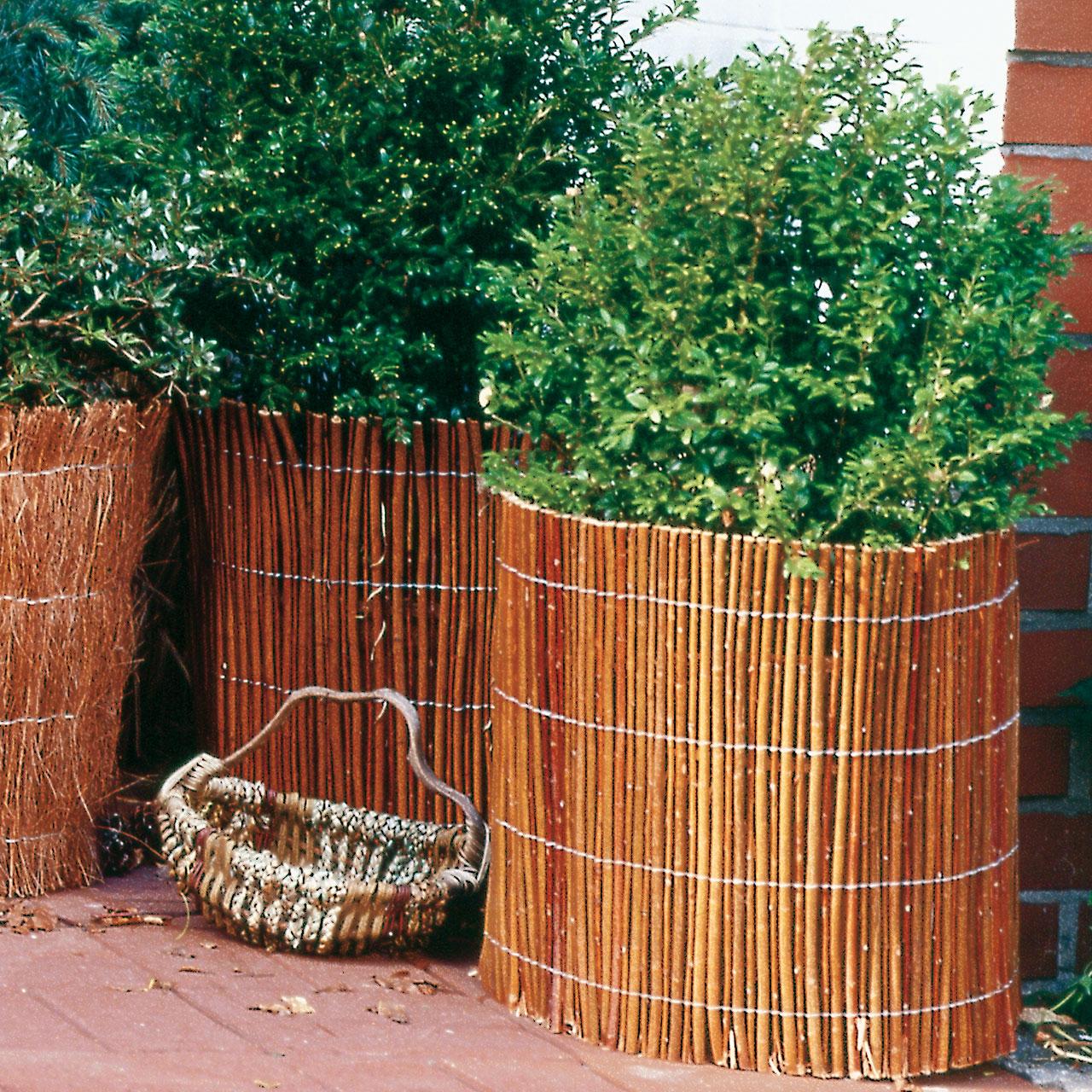 weidenmatte winterschutz pflanzen naturbelassen. Black Bedroom Furniture Sets. Home Design Ideas