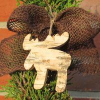 Birkenholz-Anhänger Elch