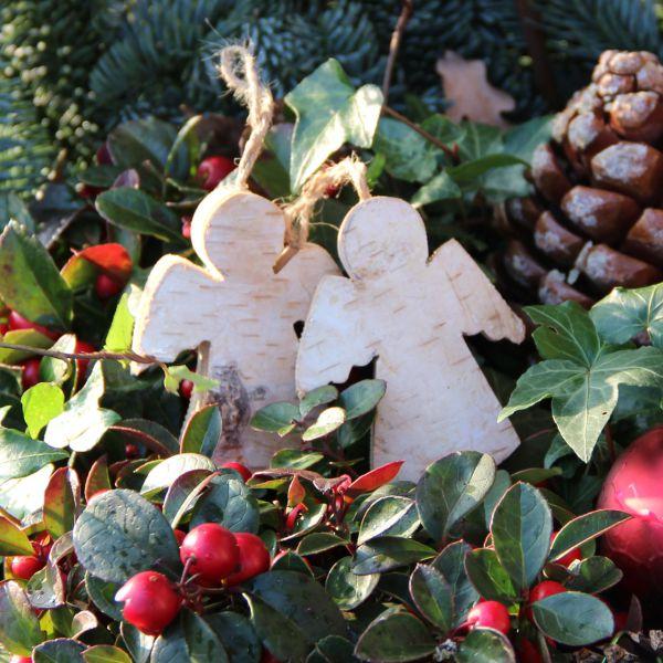 Holzanhänger Deko-Anhänger Holz Engel natur