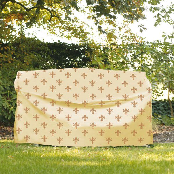Gartenmöbel-Abdeckung Hollywoodschaukel Lilien-Design beige