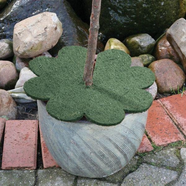 Kokosmatte Winterschutz  Blume mit Loch grün