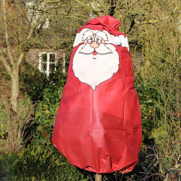 Winterschutz Vlieshaube Weihnachtsmann, rot