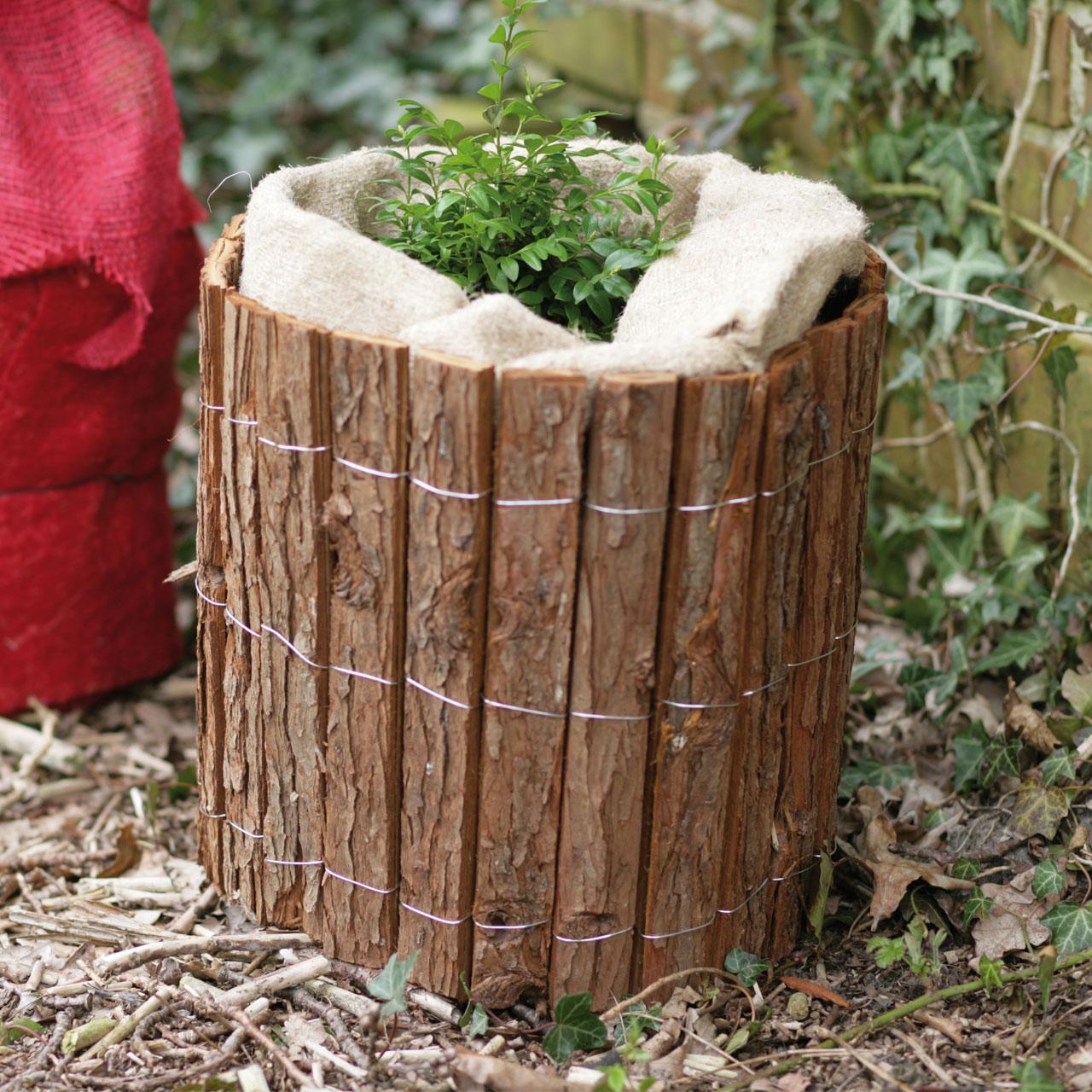 rindenholzmatte winterschutz pflanzen natur. Black Bedroom Furniture Sets. Home Design Ideas