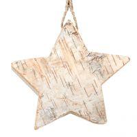 Birkenholz-Anhänger Stern