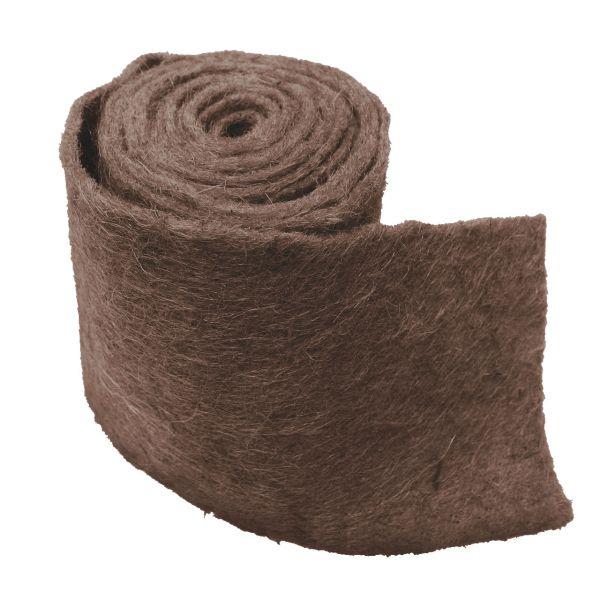 Winterschutz Wickelband Jute-Filz extra breit, braun