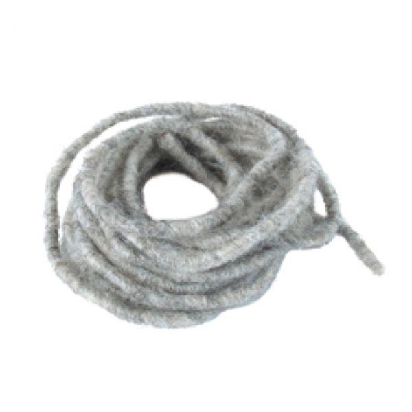Band Wolle 3-4mm stein-grau