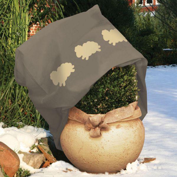 Vlieshaube Winterschutz Schäfchen taupe