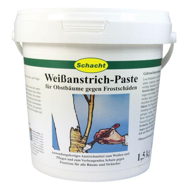 Weißanstrich Paste 1,5 kg,  Stammschutz vor Frostrissen