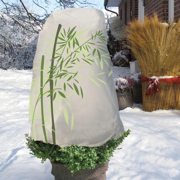 Wintervlies Thermomantel S, 100cm x Ø 50 cm, Bambus