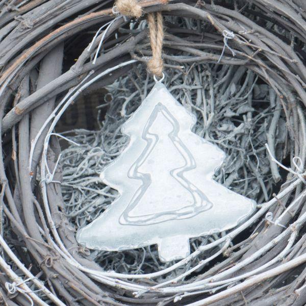 Deko-Anhänger Tannenbaum Alexa zink-geweisst