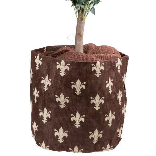 Jute-übertopf Kübelpflanzen Lilie braun-beige