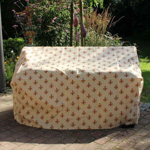 Gartenmöbel-Schutzhaube Gartenbank Lilien-Design beige