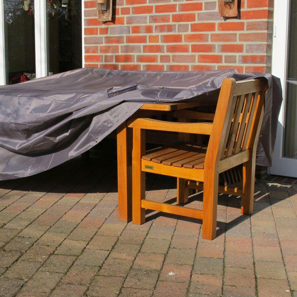 Gartenmöbel Abdeckung Rechteckige Tischgruppe Taupe