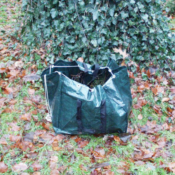 PE-Gartenabfall-Tasche rechteckig grün