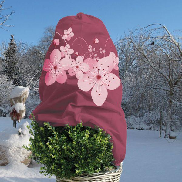 Winterschutz Vlieshaube Blüte, dunkelrot/rosa