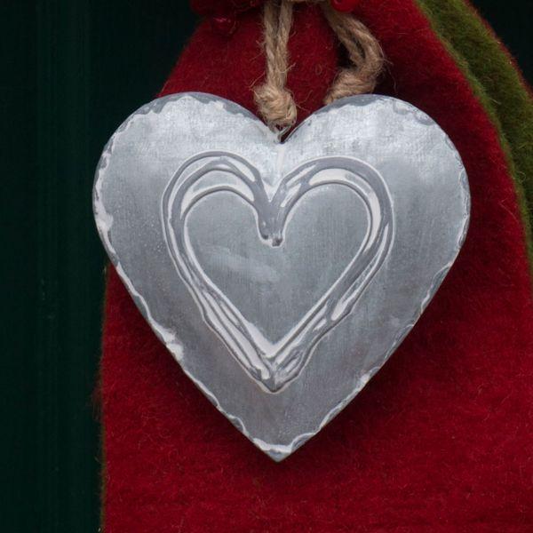 Anhänger Herz Alexa zink-geweisst