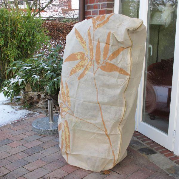 Vlieshaube groß XL Winterschutz Bambus beige