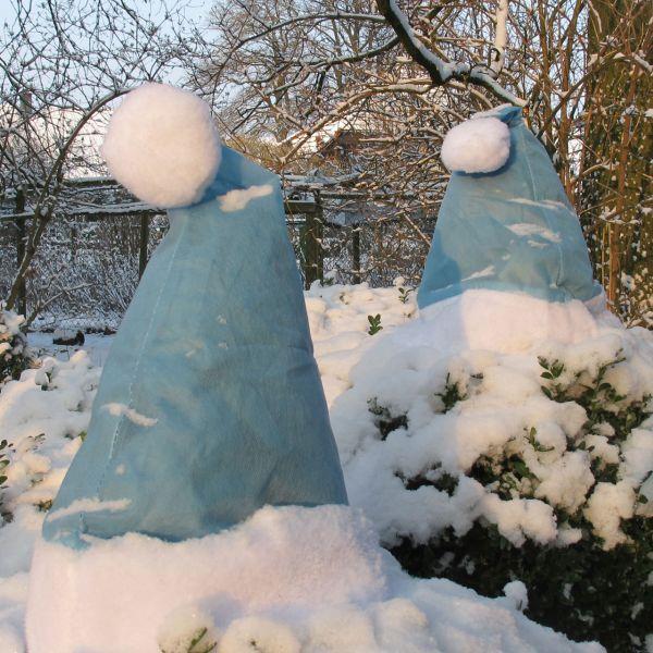 Pflanzen-Weihnachtsmütze, eisblau