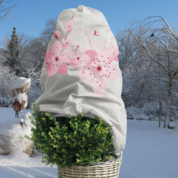 Winterschutz Vlieshaube Blüte, beige/rosé