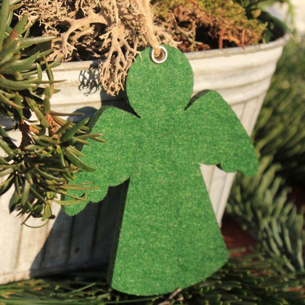 Dekoanhänger Filz Engel grün