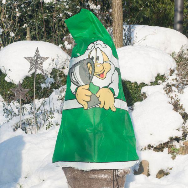 Vlieshaube Winterschutz Fan grün-weiss