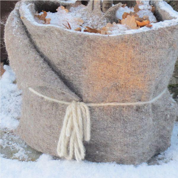 Kordel aus Schafwolle 3 lfm wollweiss