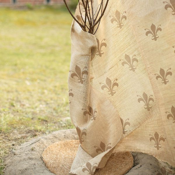 Jute-Gewebe Winterschutz-Gewebe Lilie-natur-beige