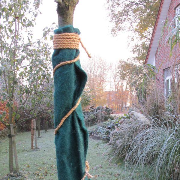 Jutematte Winterschutz für Pflanzen, grün